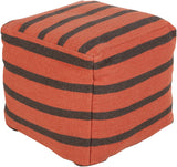 Surya P-164 Orange Pouf main image