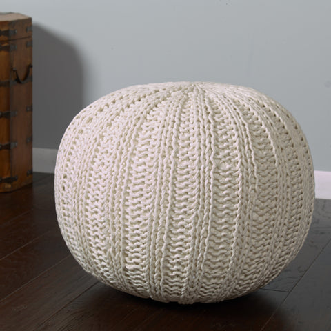 LR Resources Poufs 08124 Bone Pouf