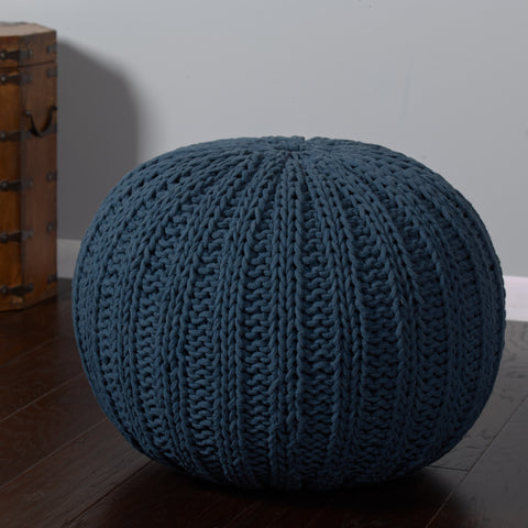 LR Resources Poufs 08124 Midnight Blue Pouf