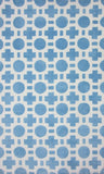 Loloi Piper PI-05 Blue Checkers Area Rug main image