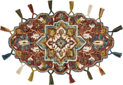 Loloi II Prim PRI-06 Red/Gold Area Rug main image