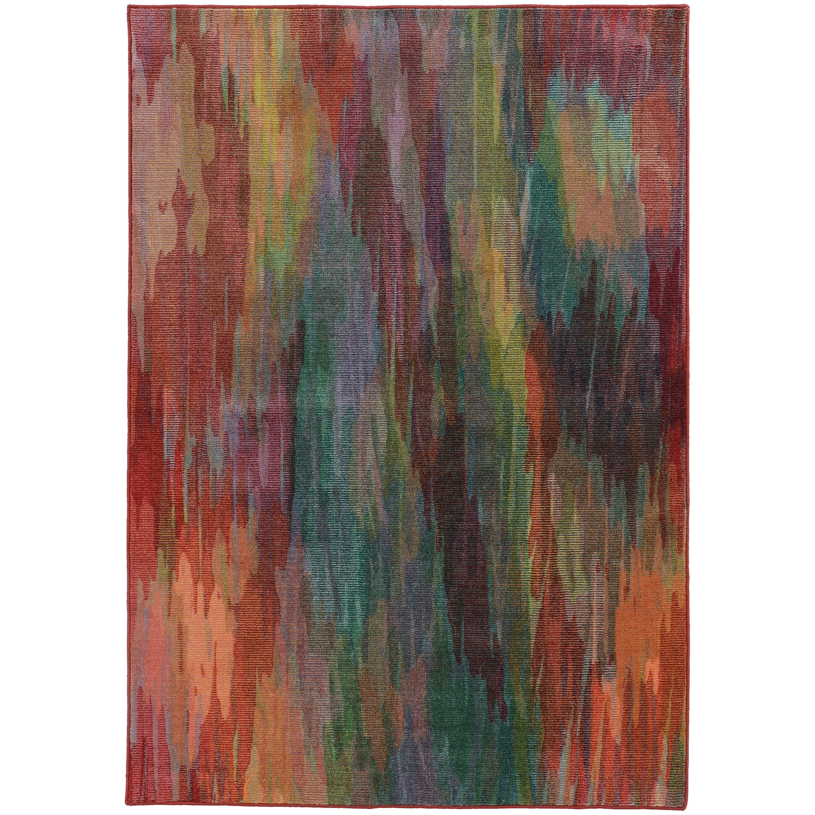 Pantone Universe Prismatic 52768 Multi/Red Area Rug main image