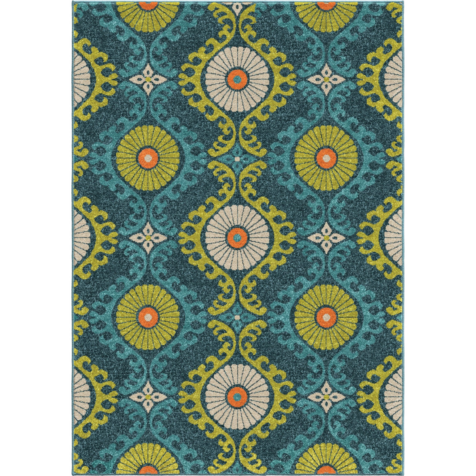Orian Rugs Promise Floating Floral Blue Area Rug main image