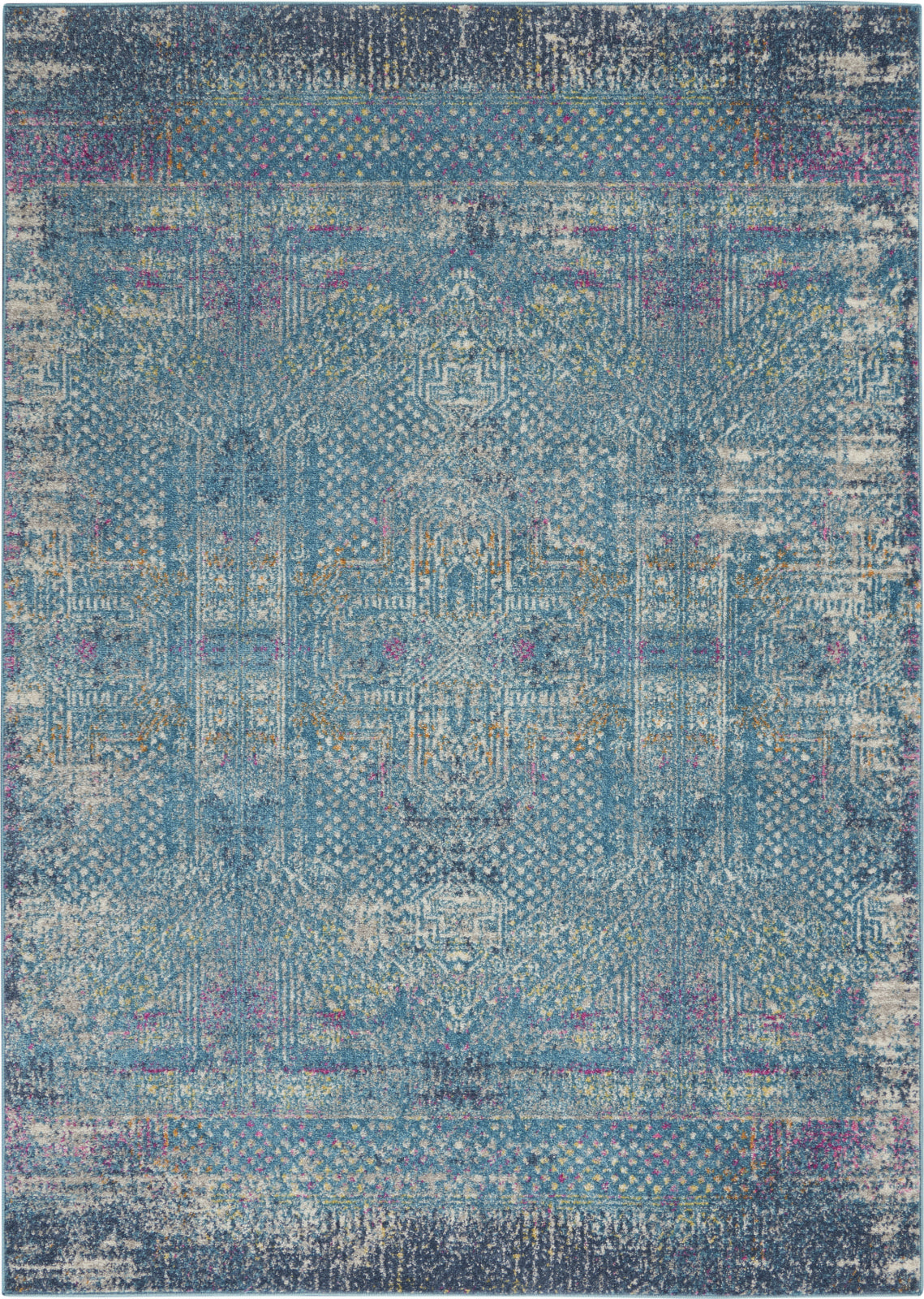 Nourison Passion PSN38 Blue Area Rug main image