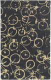 Surya Peerpressure PSR-7010 Charcoal Area Rug by Mike Farrell