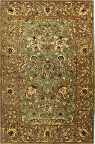 Bashian Wilshire R128-HG117 Light Green Area Rug