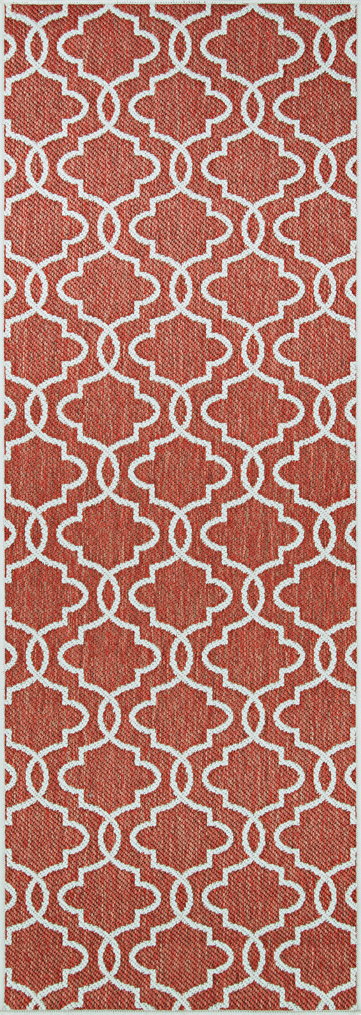 Couristan Outdurables Cliff Walk Coral and Dune Area Rug main image