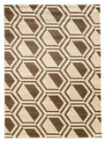 Linon Roma Collection RUGRA04 Ivory/Beige Area Rug main image