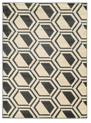 Linon Roma Collection RUGRA05 Grey/Charcoal Area Rug main image
