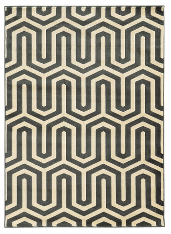 Linon Roma Collection RUGRA09 Charcoal/Grey Area Rug main image