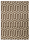 Linon Roma Collection RUGRA10 Ivory/Chocolate Area Rug main image