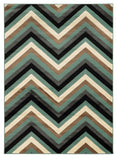 Linon Roma Collection RUGRA13 Turquoise/Grey Area Rug main image