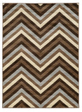 Linon Roma Collection RUGRA14 Chocoal/Beige Area Rug main image