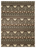 Linon Roma Collection RUGRA17 Ivory/Chocolate Area Rug main image