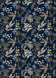 Radici Alba Alba-1857 Blue Machine Woven Area Rug