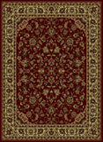 Radici Castello Castello-953 Burgundy Machine Woven Area Rug