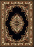 Radici Como Como-1595 Black Machine Woven Area Rug