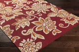 Artistic Weavers Rhodes Elsie Crimson Red/Dark Orange Area Rug Corner Shot