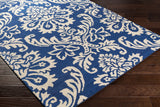 Artistic Weavers Rhodes Luna Royal Blue/Ivory Area Rug Corner Shot