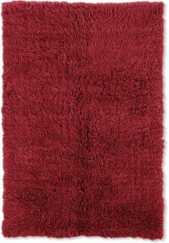 Linon New Flokati 1400 grams FLK-NFRR Red/Red Area Rug main image