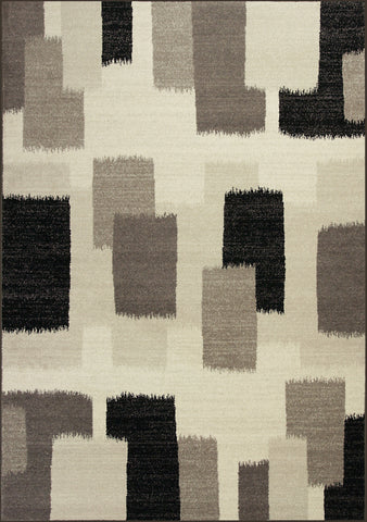 KAS Reflections 7413 Black and White Palette Machine Woven Area Rug