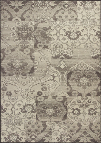 KAS Reflections 7418 Grey Brocade Machine Woven Area Rug