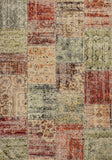 KAS Reflections 7420 Multicolor Patchwork Machine Woven Area Rug