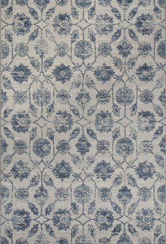 KAS Reflections 7425 Ivory/Blue Kashia Machine Woven Area Rug