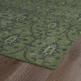 Kaleen Restoration RES01-50 Green Hand Knotted Area Rug