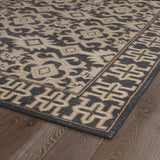 Kaleen Restoration RES04-02 Black Hand Knotted Area Rug