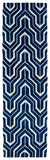 Kaleen Revolution REV01-22 Navy Area Rug Runner Shot