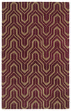 Kaleen Revolution REV01-87 Plum Area Rug main image