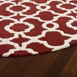 Kaleen Revolution REV03-25 Red Area Rug Close-up Shot