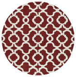Kaleen Revolution REV03-25 Red Area Rug Round Shot