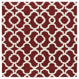 Kaleen Revolution REV03-25 Red Area Rug Square Shot
