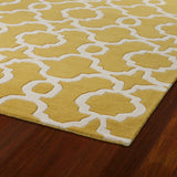 Kaleen Revolution REV03-28 Yellow Area Rug Close-up Shot