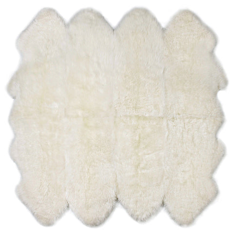 Auskin Luxury Skins Premium Sheepskin Octo Pelt Linen Animal Hide Area Rug