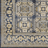 Artistic Weavers Roosevelt Albany Navy Blue/Light Yellow Area Rug Swatch