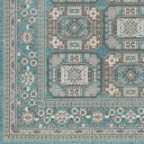 Artistic Weavers Roosevelt Albany Turquoise/Gray Area Rug Swatch