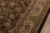 Momeni Royal RY-02 Brown Area Rug Corner Shot