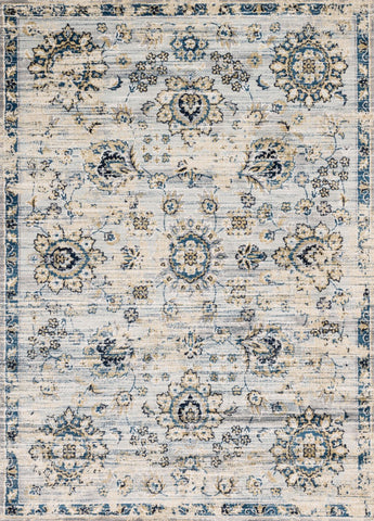 Loloi Torrance TC-05 Grey / Navy Area Rug main image