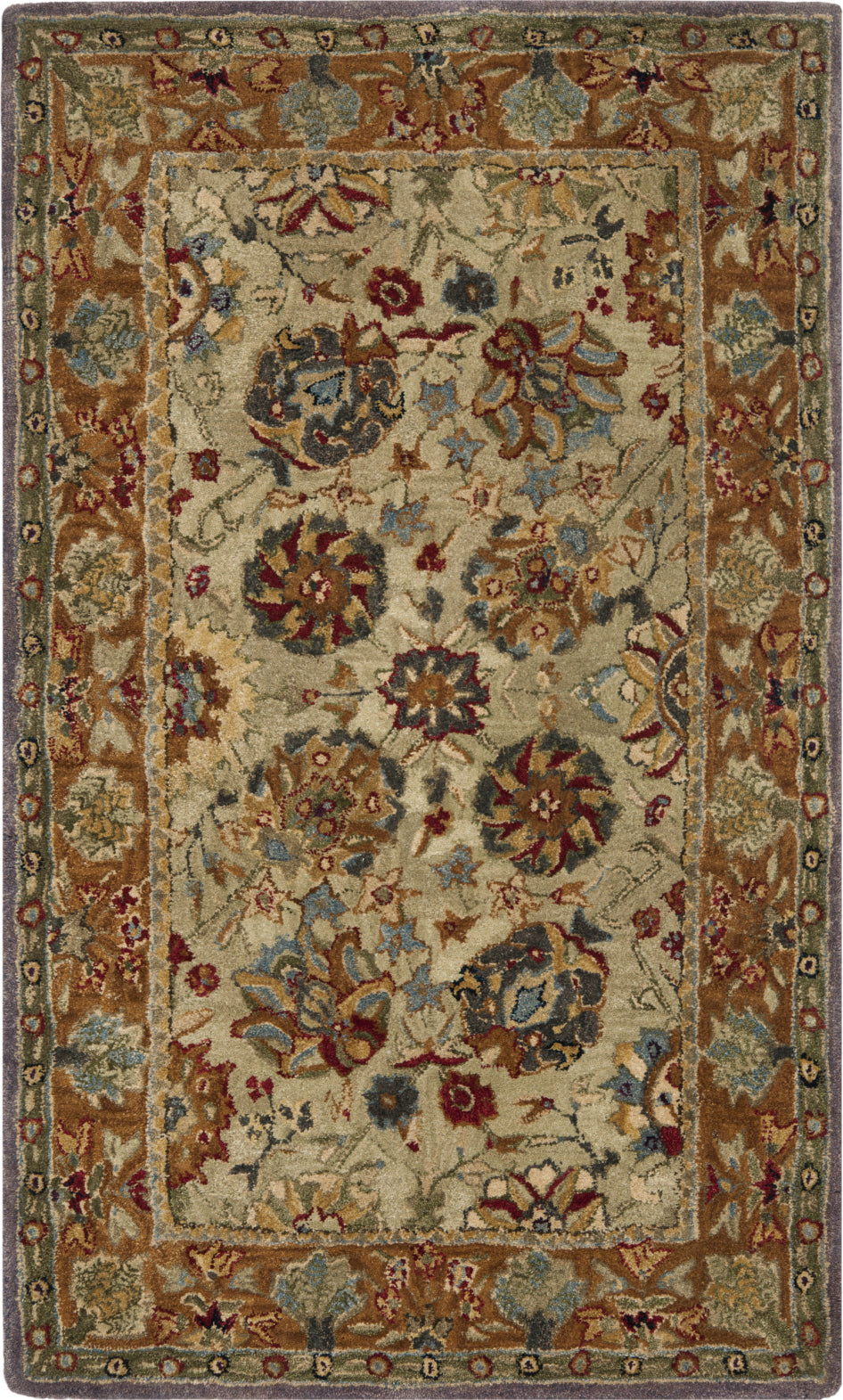Safavieh Anatolia An521 Green/Gold Area Rug main image