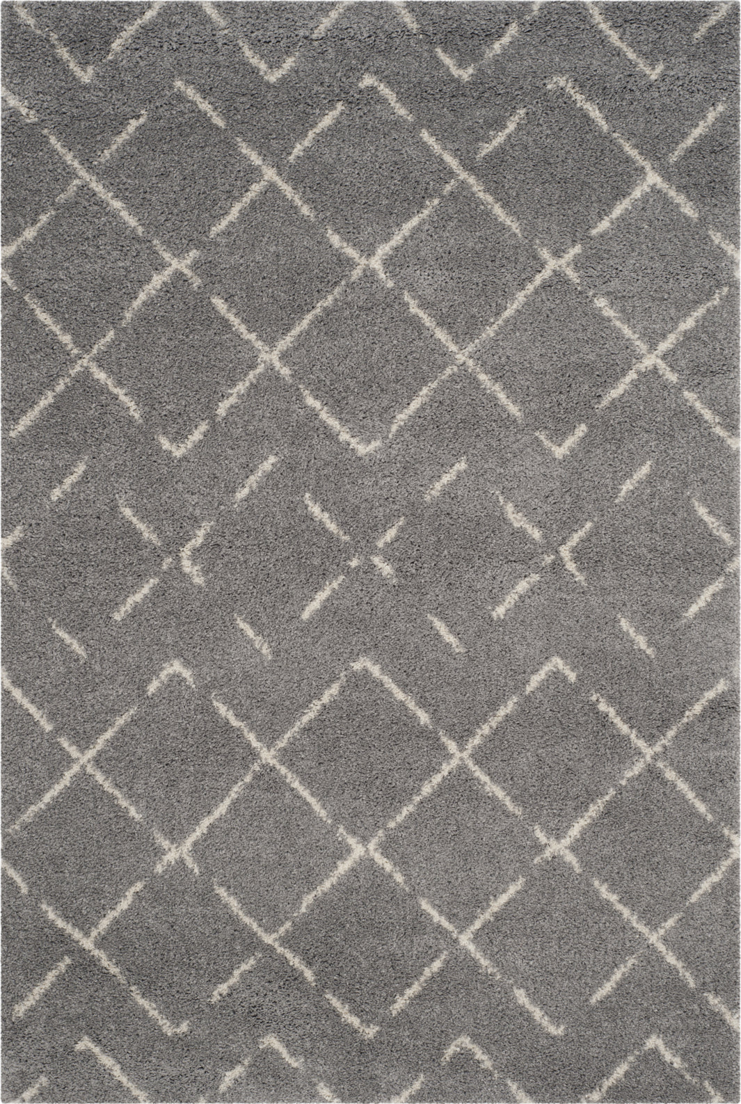 Safavieh Arizona Shag ASG743D Grey/Ivory Area Rug main image