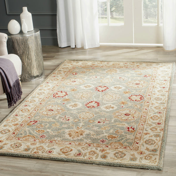 Safavieh Antiquity 822 Grey Blue Beige Area Rug Incredible Rugs And Decor