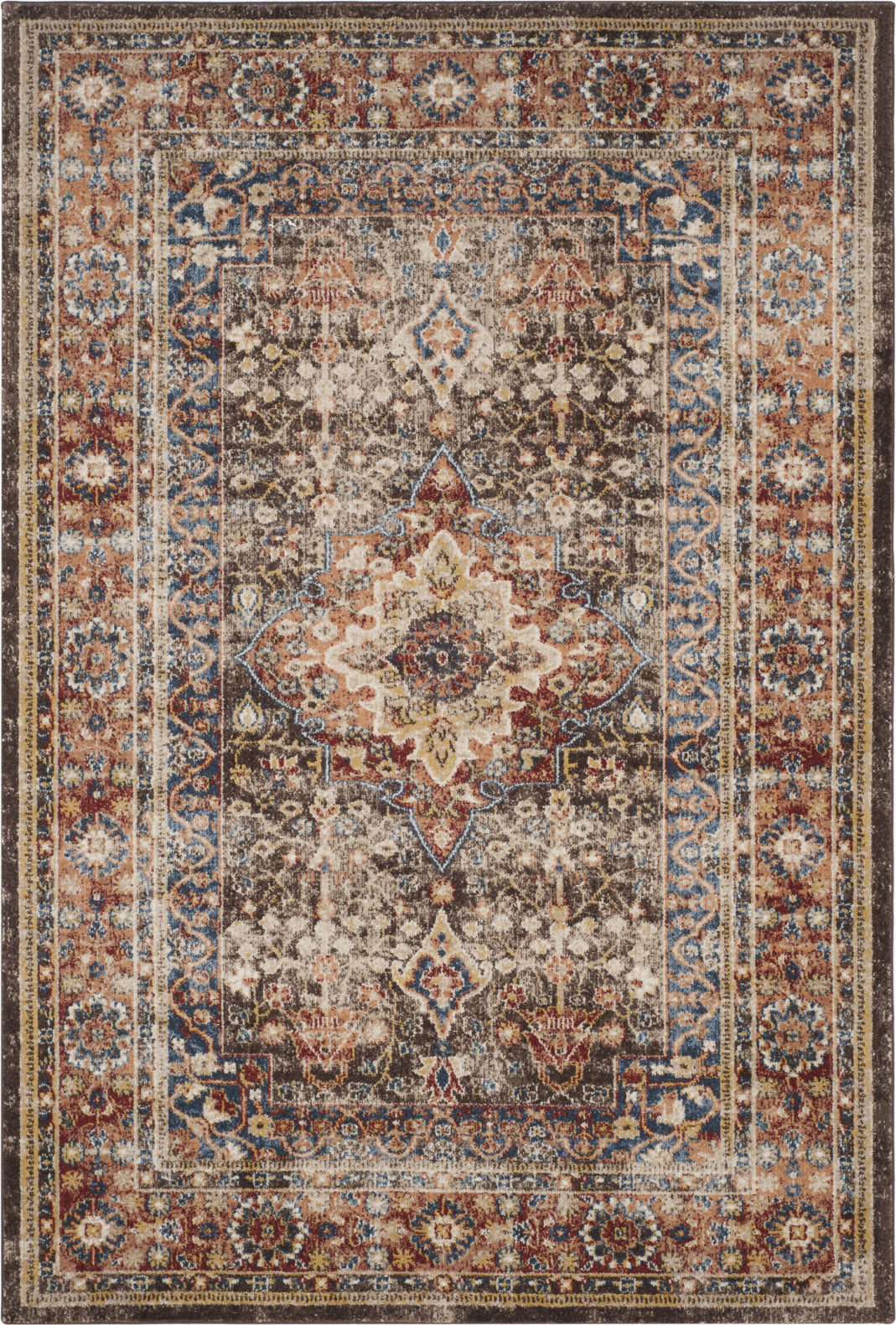 Safavieh Bijar BIJ652D Brown/Rust Area Rug main image