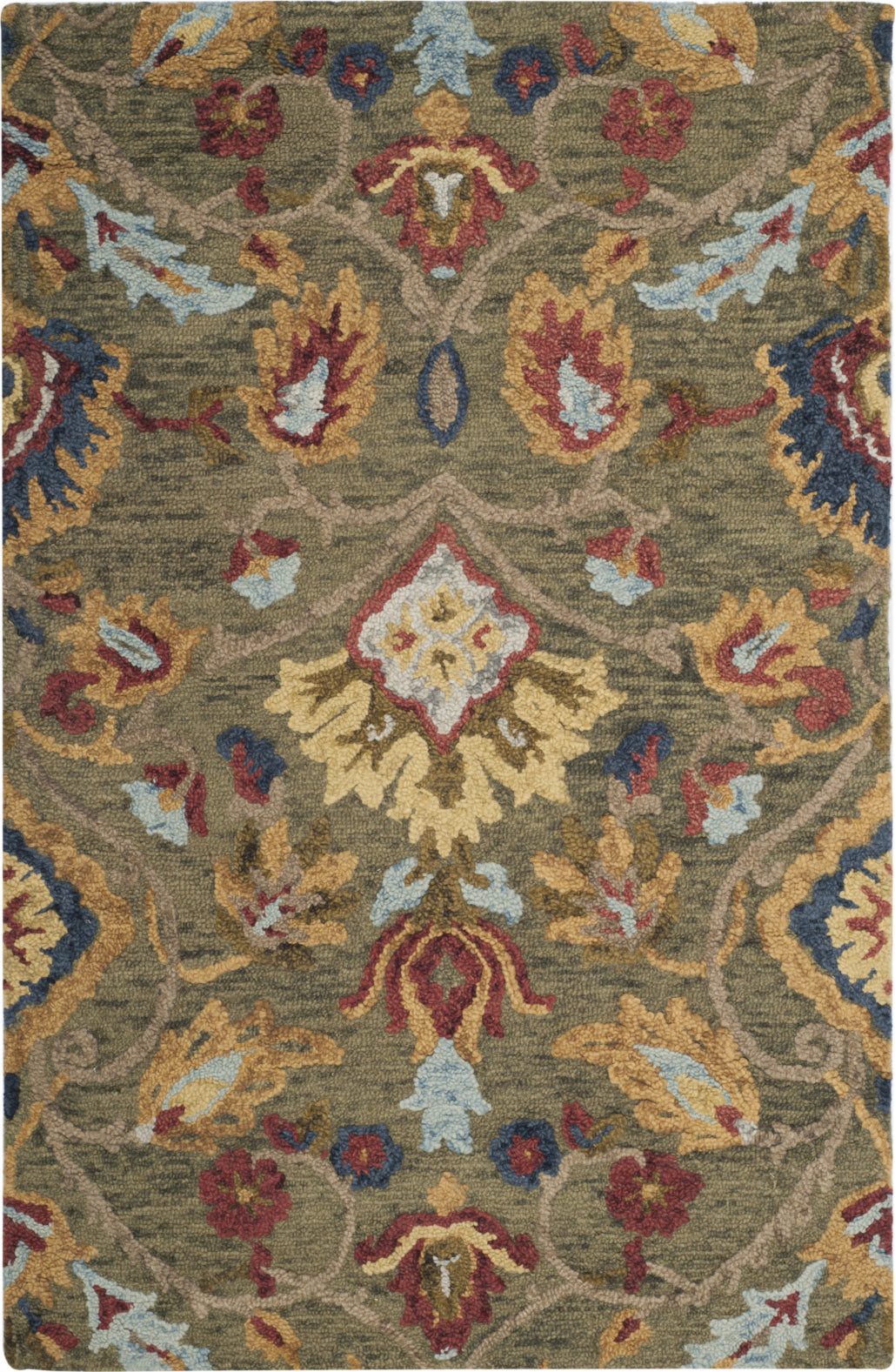 Safavieh Blossom 402 Green/Multi Area Rug main image
