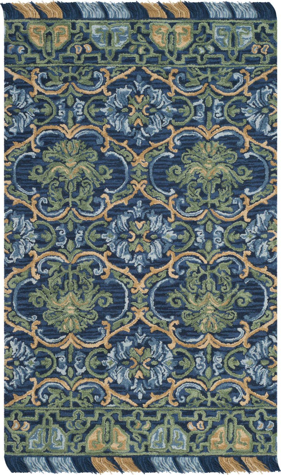 Safavieh Blossom 422 Navy/Green Area Rug main image