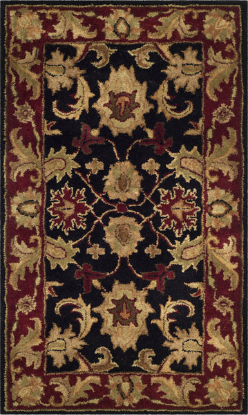 Safavieh Classic Cl244 Black Burgundy Area Rug Incredible Rugs And Decor