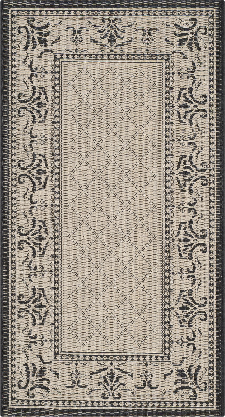 Safavieh Courtyard CY0901 Sand/Black Area Rug main image