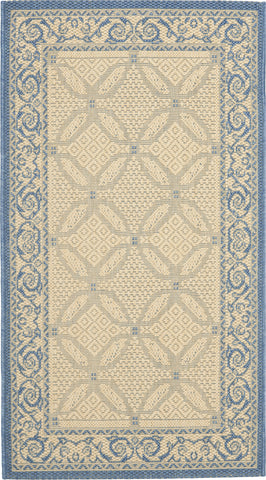 Safavieh Courtyard CY1502 Natural/Blue Area Rug main image